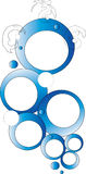 Okręgu błękitny abstrakcjonistyczny projekt Obraz Royalty Free