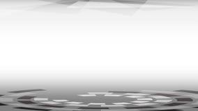 Okręgu czarny i biały astronautyczny tło Obraz Stock