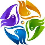 Okręgu drużynowy logo royalty ilustracja