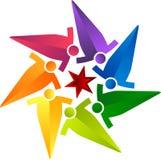 Okręgu drużynowy logo ilustracji