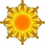 okręgu eps życia słońca Zdjęcia Stock