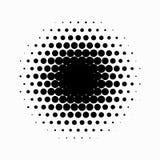 Okręgu Halftone kolory w półtonach tła abstrakcyjne również zwrócić corel ilustracji wektora Czerń okręgi ilustracja wektor