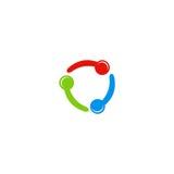 Okręgu koloru podłączeniowy logo Fotografia Royalty Free