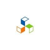 Okręgu kształta geometrii budowy logo Zdjęcie Royalty Free