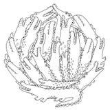 Okręgu kształta kolorystyki strona z śmieszni krokodyle ilustracja wektor