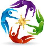 Okręgu obwodu logo ilustracja wektor