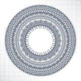 Okręgu ornament, ornamentacyjna round koronka royalty ilustracja