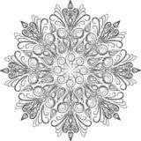 Okręgu pędny ornament, ornamentacyjny round wzór ilustracji
