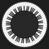 Okręgu pianino wpisuje tło royalty ilustracja