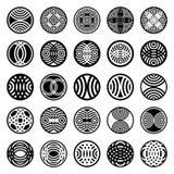 okręgu projekta elementów wzorów kształt Zdjęcie Stock