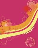 okręgu retro deseniowy Obraz Royalty Free