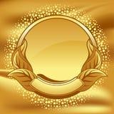 okręgu rocznik ramowy złocisty ilustracja wektor