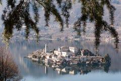 Okręgu włoski jeziorny krajobraz Obrazy Royalty Free