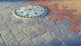 Okręgu wzór mozaiki podłoga tło Obraz Royalty Free