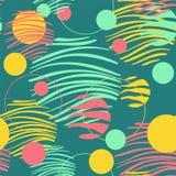Okręgu wzór na zielonym tle Bezszwowa wz?r p?ytka prosty t?o projekt Geometryczna dekoracyjna tekstura koral ilustracja wektor