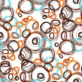 Okręgu Wzór Powtarzać kropkuje wokoło abstrakcjonistycznego tła dla ściennego papieru Płaski minimalistic projekt Zdjęcia Stock