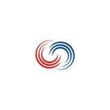 Okręgu zawijasa podłączeniowy logo Zdjęcia Stock