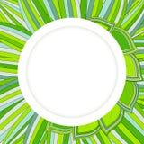 Okręgu zielony tło Obrazy Stock