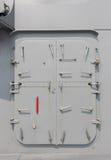 Okręt wojenny - ochrony drzwi Obrazy Royalty Free