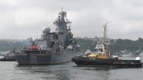 Okręt wojenny z pociskami zdjęcie wideo