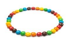 Okrąg barwioni cukierki Obrazy Royalty Free