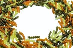 Okrąg coloured makaron Zdjęcie Stock