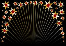 okrąg czarny gwiazda Fotografia Royalty Free