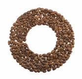 Okrąg kawowe fasole Fotografia Royalty Free