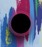 Okrąg na kolorowym tle ilustracja wektor