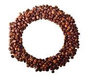 Okrąg od Kawowych fasoli Zdjęcia Royalty Free