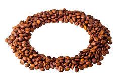 Okrąg od Kawowych fasoli Fotografia Stock