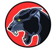 Okrąg odznaki pantera Zdjęcie Stock