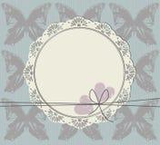 Okrąg rama z koronkowym ornamentem Obraz Royalty Free