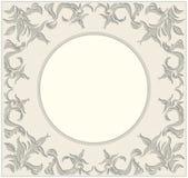 Okrąg rama z roczników ornamentami i kwiecistymi elementami Obrazy Stock