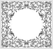 Okrąg rama z rocznikiem, kwiecisty ornament Zdjęcia Stock