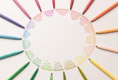 Okrąg z kolorowymi markierami robi gradientowi Obrazy Stock