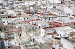 okręgowy cadiz starego miasta. Fotografia Stock