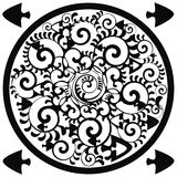 okręgu elementów ornamental morze ilustracja wektor