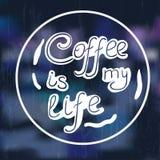 Okręgu kawowy literowanie Royalty Ilustracja