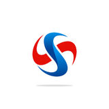 Okręgu listowego S wiru technologii logo Fotografia Stock