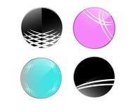 Okręgu loga ikony Graficzny projekt Fotografia Royalty Free