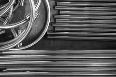 Okręgu metalu tubka Zdjęcia Stock