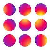 Okręgu multicolor wzór Fotografia Royalty Free