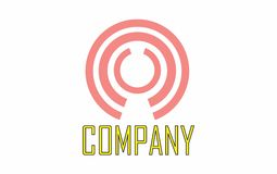 Okręgu round logo Fotografia Royalty Free