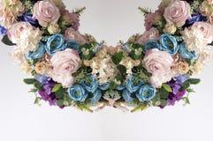 Okręgu sztucznego kwiatu boquet Obrazy Stock