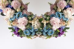 Okręgu sztucznego kwiatu boquet Obraz Stock