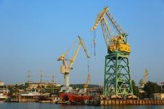 Okrętownictwo i statku remontowy jard Obrazy Stock