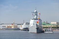 Okrętu wojennego typ 052D niszczyciel, Luyang III Obrazy Royalty Free