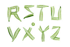 Okra Alphabet Royalty Free Stock Photo