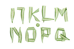 Okra Alphabet Royalty Free Stock Images
